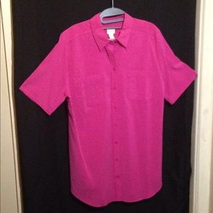 Europe Pink 3/4 Sleeve Chico's top. Brand New.